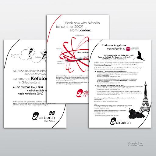 Fax und E-Mail Unterlagen (Airberlin). Copyright © by Katharina Theine