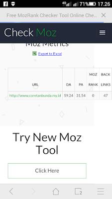 Tools untuk mengecek DA/PA blog