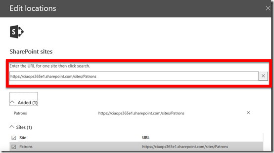 Selecting sites to include/exclude in Office 365 DLP – CIAOPS