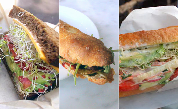 Veggie sandwich options from Atwater Village, Highland Park and Los Feliz