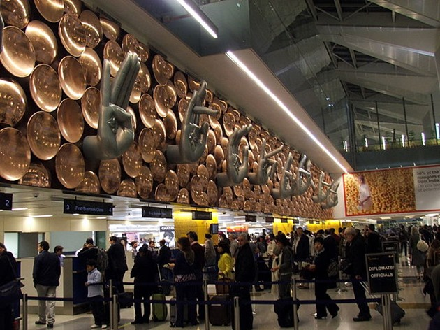 Airline Counter Queues at Delhi international airport
