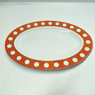 Jonathan Adler Mod Dot Oval Serving Platter
