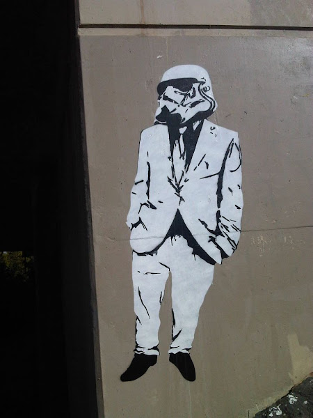 stormtrooper in a suit