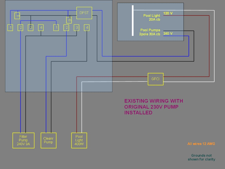 pool%252520wiring%252520old%252520240V%252520pump power 120v pump from a 240v circuit electrical diy chatroom Century Pool Pump Wiring Diagram at gsmx.co