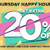 Jabong Thursday Happy Hours Sale - Get 70% Off + 20% Extra Off (Till Midnight)