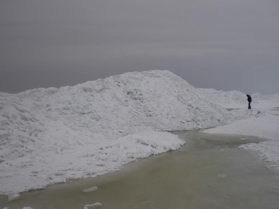 Ijs op het IJsselmeer. Hoe dik was het dikste ijs?
