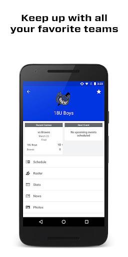 SportsEngine Screenshot