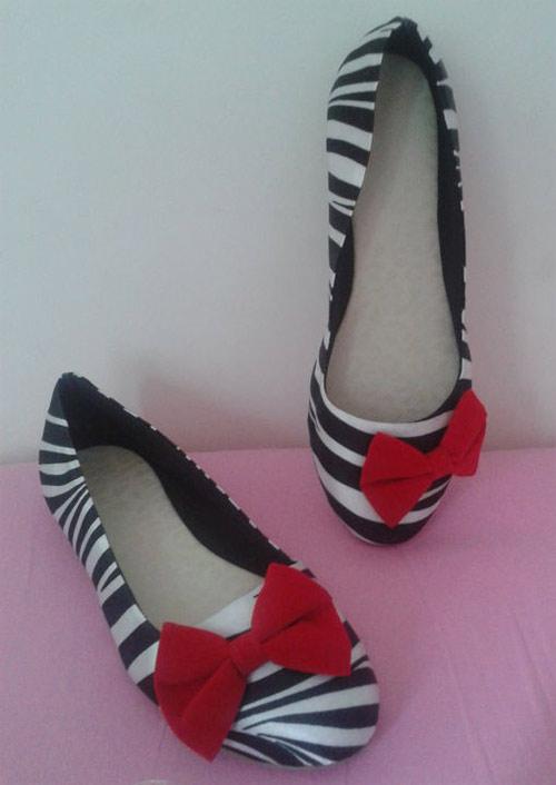Inspiração zebra - sapatilha