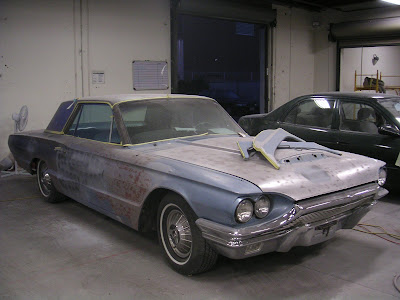 1964 Thunderbird during restoration by Almost Everything