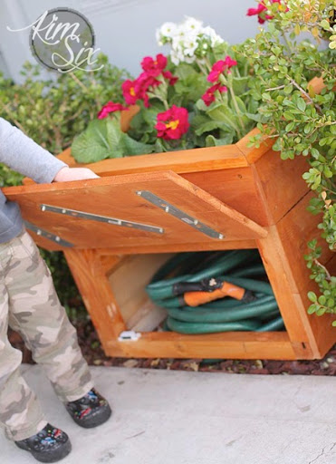 Cedar Planter Box With Hidden Hose Storage The Kim Six Fix .