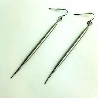 Gunmetal Quill Earrings