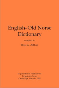 Cover of Ross Arthur's Book English Old Norse Dictionary