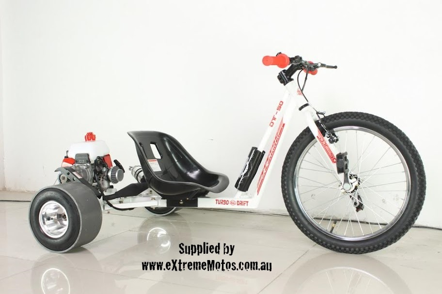 Drift Trike Motorised Petrol Powered Slider Drifting Tricycle GoCart for sale White