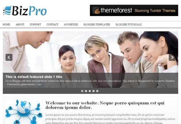 BizPro Blogger Template