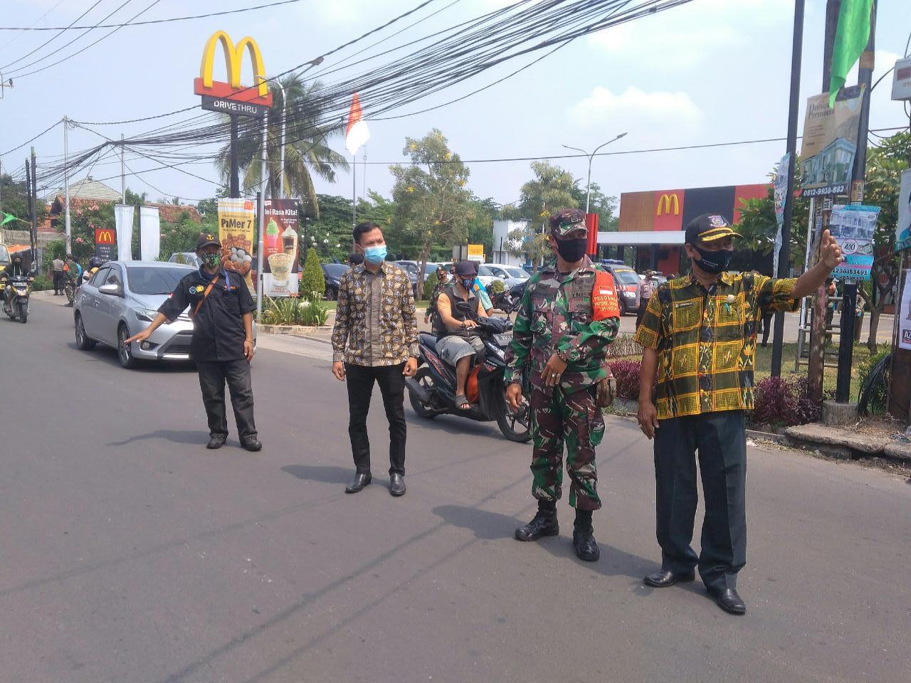 Operasi Yustisi, Koramil Pondok Aren dan Unsur Muspika Mendapatkan 20 Orang Pelanggar