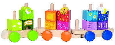 Đồ chơi Xếp chồng Xe lửa ngẫu hứng Hape Blocks Train