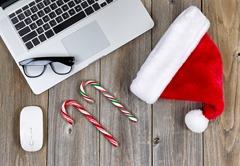 Christmas social media businesses
