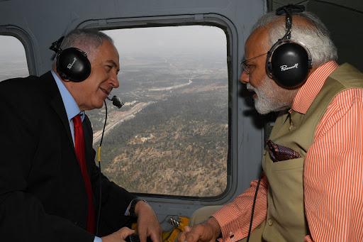 ביקור ראש ממשלת הודו נרנדרה מודיטיסה עם ראש הממשלה בנימין נתניהו לכיוון חיפהPhoto by Kobi Gideon / GPO