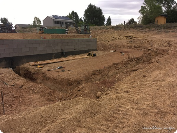 footings dug for master bedroom and bath