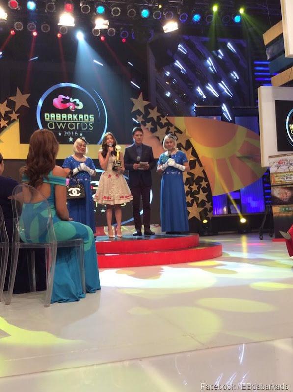 Maine Mendoza wins Darling of the Screen (T EatBulaga)