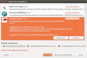 Funciones adicionales para LibreOffice. Instalación.