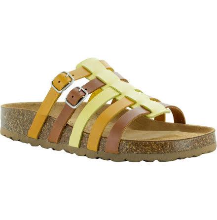 """Johanna konjak """"bio""""sandal med reglerbara spännen"""