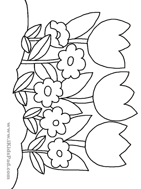 Download Coloring Pages Tulip Coloring Pages Tulip Coloring Page Tulips  Coloring Page Free Printable Coloring