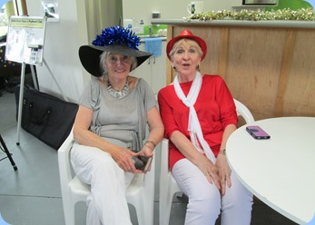 Delyse Whorwood and Margaret Black enjoying a break from kitchen duties. Photo courtesy of Diane Lyons.