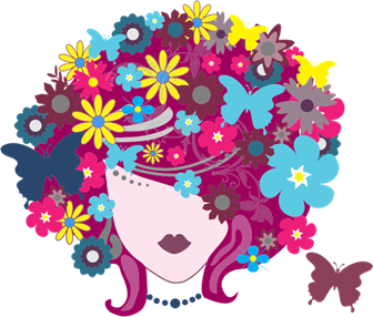 Floral-Butterfly-Hair-Woman