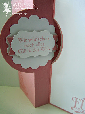 stampin up, love & laughter, zum schönsten tag, wo das herz, forever with you, flip card thinlits