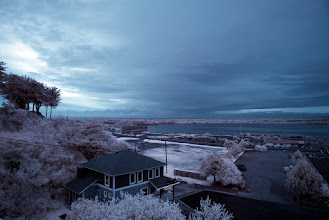 Photo: Infrared, view from motel