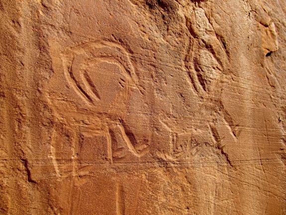 Incised petroglyphs near Horseshoe Gallery