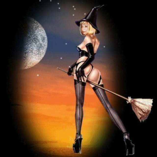 Sexy Witch On Broom, Pretty Witches
