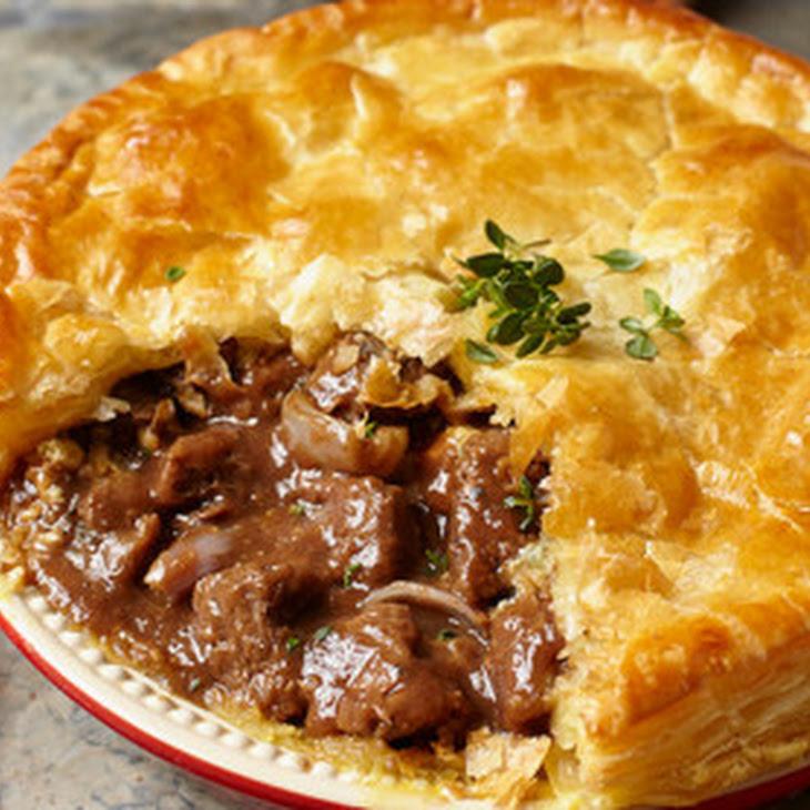 Steak, Dark Ale And Stilton Pie
