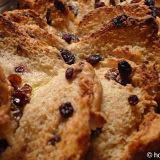 British Hot Cross Bun Bread And Butter Pudding.
