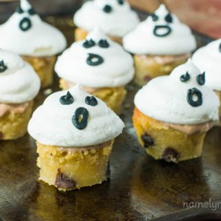 Vegan Meringue Ghosts Blondie Bites