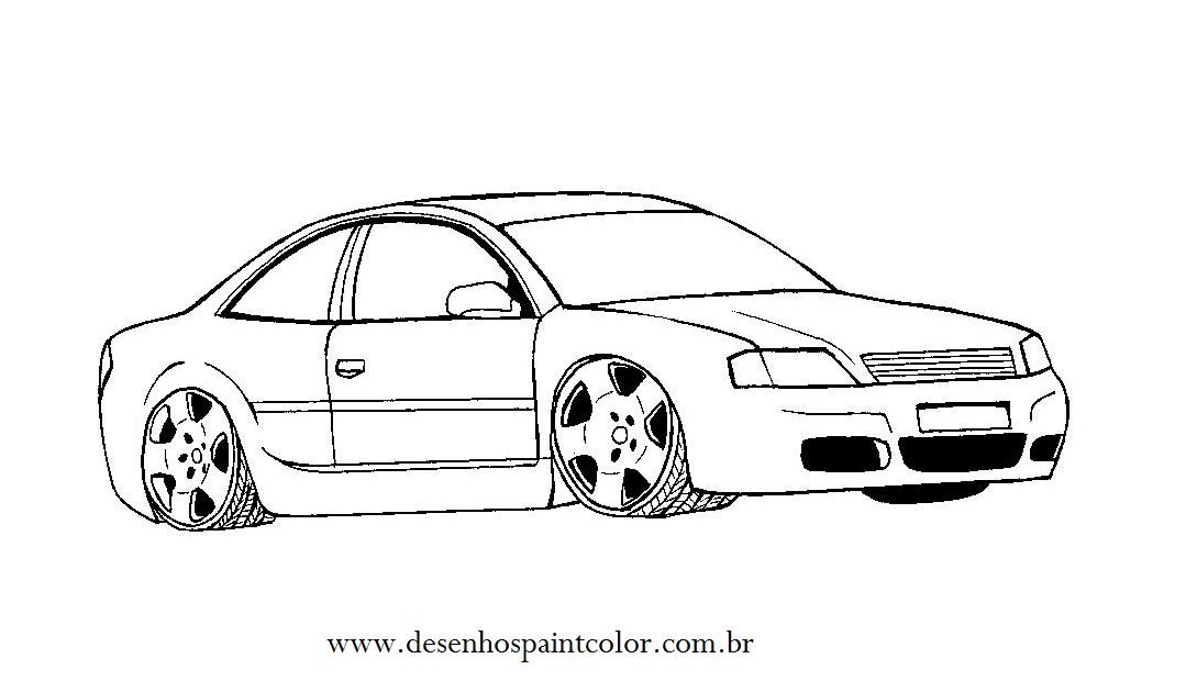 Desenho De Audi A8 Desenho De Carro Tuning Para Imprimir