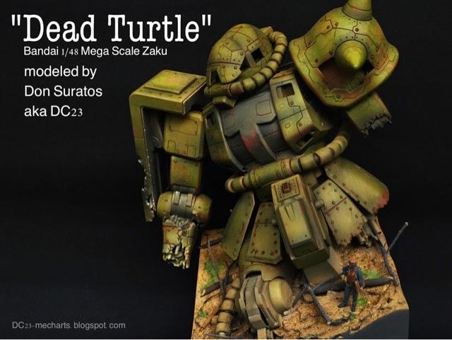 Mega Scale Zaku Diorama Dead Turtle modeled by Don Suratos akaDC23photo