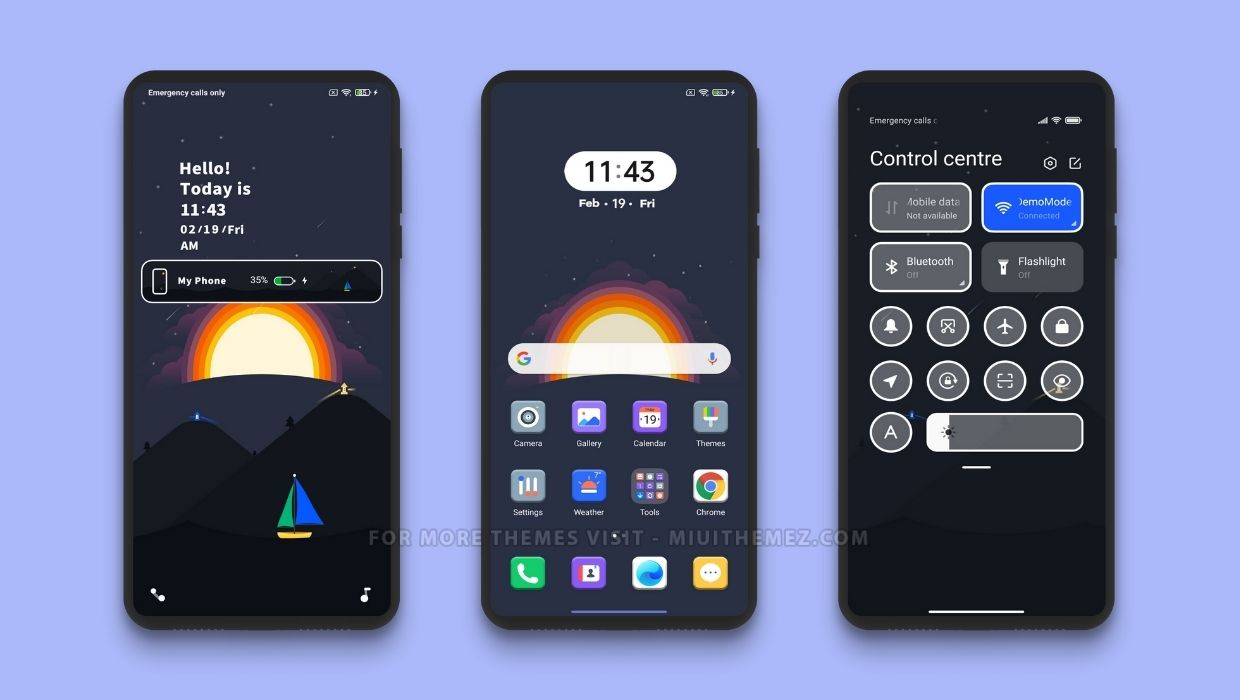 New Sunset MIUI Theme