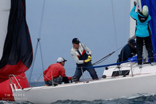 J/80 one-design sailing San Diego NOOD regatta