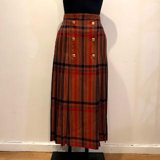 Yves Saint Laurent Plaid Skirt