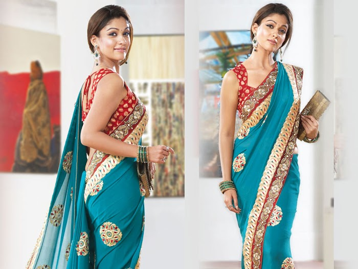 Nayantara Beautiful and Spicy stills in saree Looks like Desi women in all her Pictures