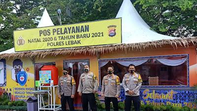 Pastikan Pengamanan di Lebak Berjalan Aman dan Lancar, Karo Ops Polda Banten Kunjungi Pospam dan Posyan