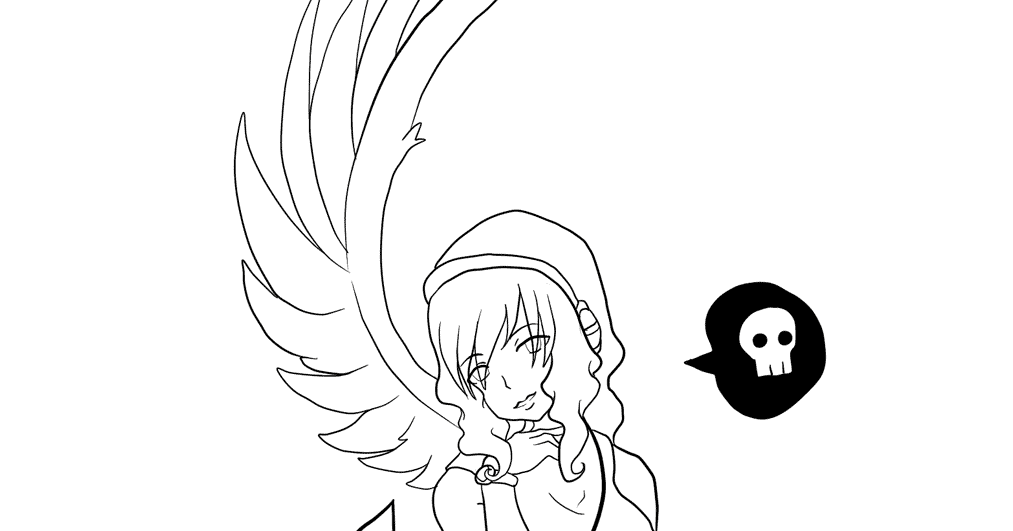 Top Anime Devil Girl Coloring Pages