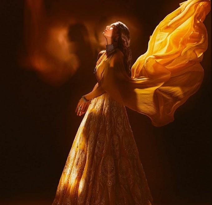 Malaika Arora's sunshine-hued lehenga ensemble is perfect for sangeet and cocktail parties !