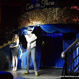 WWW.ENTSIMAGES.COM -  Chris Cross (Contortionist, Escapologist and Magician) and Claire Gatens  performing at      Beat The Brief Variety Show Cafe de Paris London September 22nd 2014                                                 Photo Mobis Photos/OIC 0203 174 1069 and