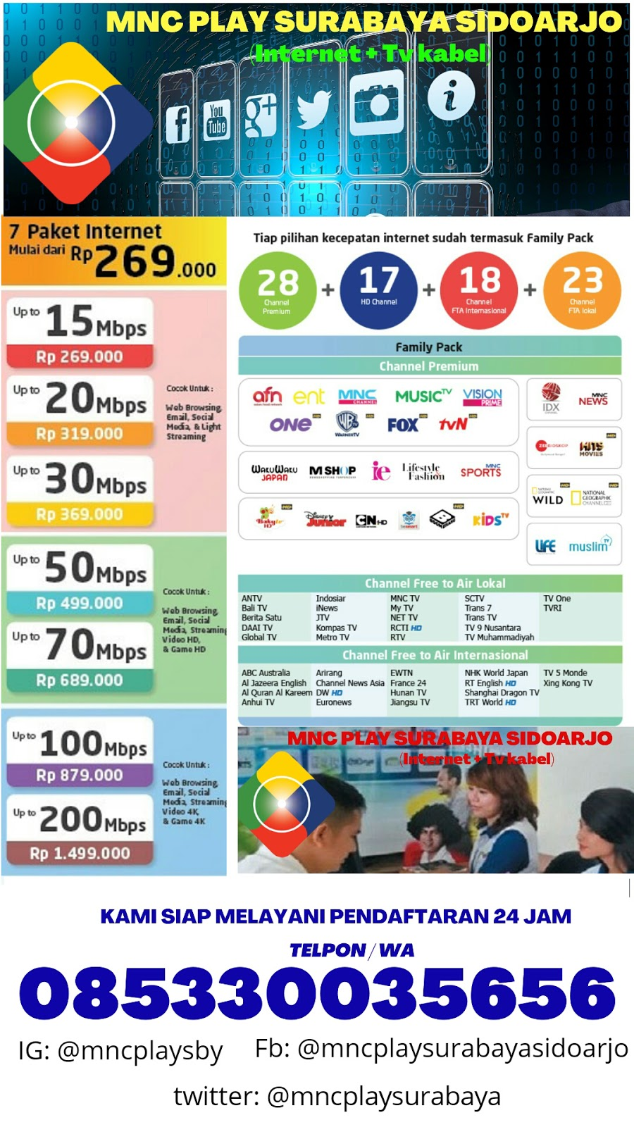 Mnc Play Surabaya Pasang Wifi Tv Kabel Termurah
