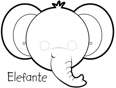 elefante mascara de animales  para colorar (8)_thumb