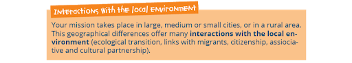 interactions with local environment