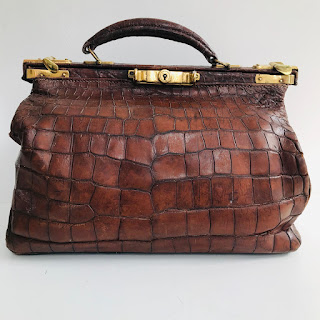 Vintage Alligator Doctor's Bag